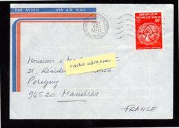 HAUTE - VOLTA Enveloppe Cover Ouagadougou Aéroport 12 12 1981 - Haute-Volta (1958-1984)