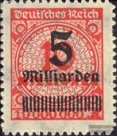 Deutsches Reich 334B Con Puntura (sempre Imperfetta) Con Fold 1923 Iperinflazione - Deutschland