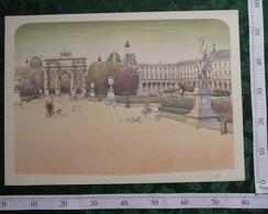 PALAIS Du LOUVRE - Lithographie Signée De L'Artiste Rolf RAFFLEWSKI (75x54 Cm) - Lithographies