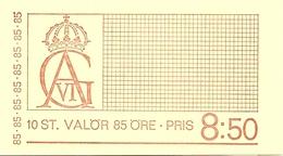 SWEDEN, 1971, Booklet 244 (Facit), Mi 712, Gustav VI Adolf, 85 öre - 1951-80