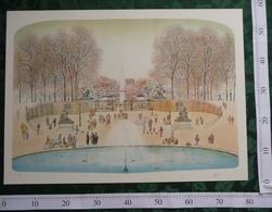 PLACE DE LA CONCORDE Lithographie Signée De L'Artiste Rolf RAFFLEWSKI (75x54cm) - Lithographies