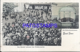 103569 GERMANY BAD EMS THE KURHOF DURING THE SPRING CONCERT POSTAL POSTCARD - Non Classificati