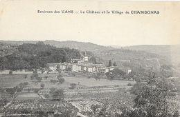 Environs De Vans (Ardèche) - Le Château Et Le Village De Chamboans - Brunel Photo - Carte Non Circulée - France
