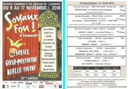Flyer - Soyaux Fou ! D'humour - Festival D'humour Et De Création En Charente 2018 - Ill. Vincent Gazda - Reklame