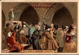 CHROMO CHICOREE NOUVELLE CASIEZ-BOURGEOIS  CAMBRAI  LE CLUB DES JACOBINS 14 MAI 1790 - Chromos