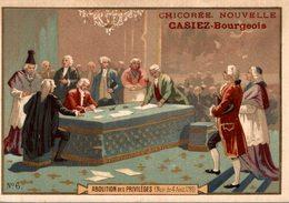 CHROMO CHICOREE NOUVELLE CASIEZ-BOURGEOIS  CAMBRAI  ABOLITION DES PRIVILEGES NUIT DU 4 AOUT 1789 - Cromos