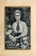 Thèmes > Fantaisies > EN SOIE 1916 JOLIE FEMME AVEC SON CHIEN VOIR IMAGES - Embroidered