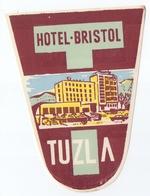 Luggage Label Hotel Bristol Tuzla Bosnia Yugoslavia - Hotel Labels