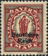 German Empire 129 With Hinge 1920 Bayern Farewell - Nuovi