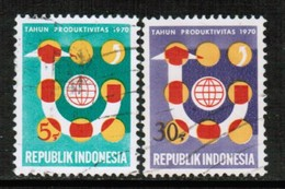 INDONESIA   Scott # 789-90 VF USED (Stamp Scan # 432) - Indonesia
