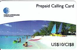 CAYMAN ISL. - Seven Mile Beach, Cable & Wireless Prepaid Card US$10/CI$8, CN : CAY-04, Tirage 50, Exp.date08/99, Mint - Kaimaninseln (Cayman I.)