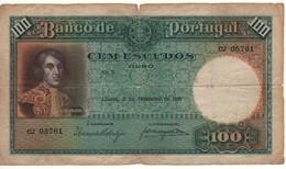 PORTUGAL   100 Escudos  P150    Joao Pinto Riberio  At Left,     Dated  21.2.1935 - Portugal
