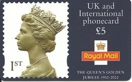 Great Britain: IDT - Royal Mail, The Queen's Golden Jubilee 1952 - 2002, 07.05 - Ver. Königreich