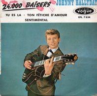 Disque Vogue EPL 7 834  JOHNNY  HALLYDAY  - 4 Titres Dont 24.000 Baisers - Vinyl Records