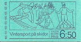 SWEDEN, 1974, Booklet 272 (Facit), Mi MH44,  Ski Championships - Markenheftchen