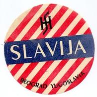 Luggage Label Hotel SLAVIJA Beograd Belgrade Serbia Yugoslavia - Etiquettes D'hotels