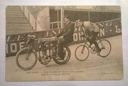Carte Postale Ancienne / Stayers Et Leur Entraineur Simar / Bertin - Sportifs