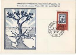 Turkey  1981 Maximum Card MC 100 Years Since The Birth Of Atatürk - Famous People