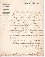 COTES DU NORD  22 DOCUMENT ARCHIVE  ST SAINT BRIEUC PONT 1831 SERCOCQ MINISTERE DES FINANCES - Historical Documents