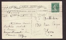 PIECE EXCEPTIONNELLE : 1ER JEUX OLYMPIQUES D'HIVER 1924 CHAMONIX TRÈS RARE FLAMME DU 28/12/1923 SUR CPA DE CHAMONIX - Poststempel (Briefe)