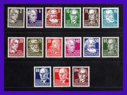 1953 - Alemania RD - Scott.n 122 / 136 - Wmk 297 - Firmados BPP - MNH - RDA- 150 - Centrajes Elegidos - [6] República Democrática
