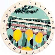 Luggage Label Hotel PLITVICE Croatia Yugoslavia - Hotel Labels