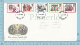 GB - FDC 1982 Christmas / Noel,  Flame Christmas Carols , 4 Stamps, Send To Canada  Via Air - Noël