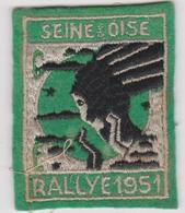 ECUSSON TISSU BLASON ARMOIRIES  SEINE ET OISE RALLYE 1951 - Blazoenen (textiel)