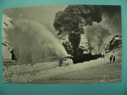 N/119-NORGE-TRAIN SNEPLOG Soufflerie Chasse-neige En Action 1910 - Norway