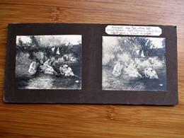 20/41 Photo Stéréoscopique Guerre 14/18 - NOVIANT Aux PRES Mai 1915 -  Groupe D' Officiers Aux Repos Ds Une Ferme - Stereo-Photographie