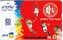 ISRAEL - Basketball I9s Life, Hapoel Jerusalem BC, CN : 604K, 05/06, Used - Sport