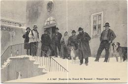 Hospice Du Grand St. Bernard - Départ Des Voyageurs. Belle Animation, BE. - VS Valais