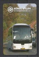 """Hugary, Bekescsaba, """"Körösvolán"""", MAN Coach, 2008. - Calendars"""