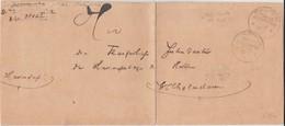 Marine Schiffspost MSP 1 SMS Vineta Dienst Bf 1901 - Lettres & Documents
