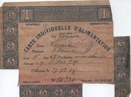 Carte Individuelle D'Alimentation/Ministére L'Agriculture Et Ravitaillement/Paris XIII/Thérése Leroux/1918    POIL197 - 1914-18