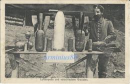 ✠ 14 - 18 ✠ Artillerie De Tranchée - 1917 - Lufttorpedo Und Verschiedene Granaten - Res.-Feldart. Reg. 11 - Breithardt - Oorlog 1939-45