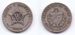 Cuba 5 Centavos 1961 - Cuba
