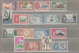 BRITISH SOLOMON ISLANDS 1956 Mi 81-97 SG 82-96 MNH(**) READ #23485 - Iles Salomon (...-1978)