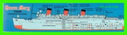PAQUEBOTS, SHIPS - QUEEN MARY HYATT HOTEL, TOUR - LONG BEACH, CA - DIMENSION 9 X 42 Cm - - Paquebots