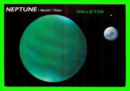 ASTRONOMIE - NEPTUNE, NEREID, TRITON - ILLUSTRATED BY BRUCE LAFONTAINE - DIMENSION 11.5 X 17 Cm - - Astronomie