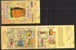 TRINIDAD AND TOBAGO, 2017, MNH, CREOLE HARVEST, AGRICULTURE, COCOA, COSTUMES, BOOKLET - Agriculture