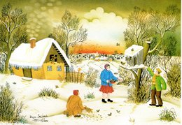 Dragica Smicibrada - Winter - 1982 Schöne Winterlandschaft - Künstlerkarten