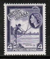 BRITISH GUIANA   Scott # 256* VF MINT LH (Stamp Scan # 432) - Guyane Britannique (...-1966)
