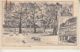 LONDON - Park Lane Hotel From Geen Park ( Illustrateur ) - London
