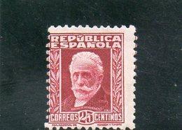 ESPAGNE 1931-4 * AVEC CHIFFRE AU VERSO - 1931-50 Neufs