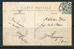 Carte Postale De LOURDES Avec Oblitération De BORDEAUX De 1906- Y&T N°111 - France