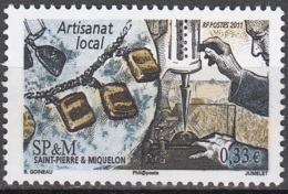 Saint-Pierre & Miquelon 2011 Yvert 1006 Neuf ** Cote (2015) 1.20 Euro Artisanat Local Colliers - Neufs