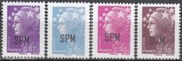 Saint-Pierre & Miquelon 2011 Yvert 995 - 998 Neuf ** Cote (2015) 23.80 Euro Marianne De Beaujard - Neufs