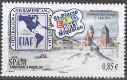 Saint-Pierre & Miquelon 2011 Yvert 1007 Neuf ** Cote (2015) 3.40 Euro Expostion Philatélique - St.Pierre Et Miquelon