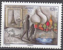 Saint-Pierre & Miquelon 2011 Yvert 1001 Neuf ** Cote (2015) 2.20 Euro Prix Littéraire Récits D'ailleurs - Neufs